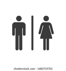 Toilet icon template color editable. Toilet symbol vector sign isolated on white background.