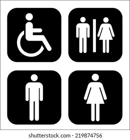 Toilet Icon- vector