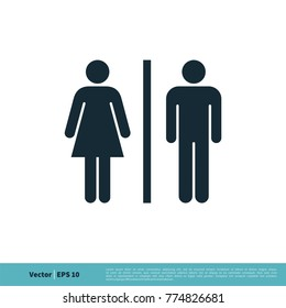 Toilet Icon Vector Logo Template