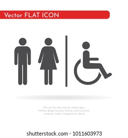 Toilet icon. For web, business, finance and communication. Vector Illustration.