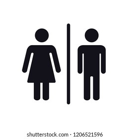 Toilet icon,male and female icon style