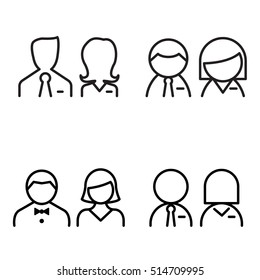 toilet icons Vector illustration symbol set