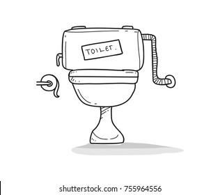toilet illustration doodle