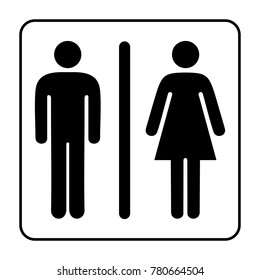 toilet man woman icon logo