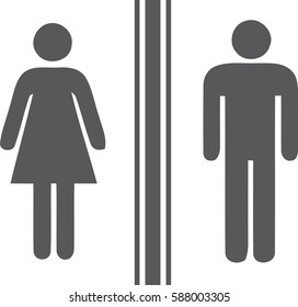 Toilet man women gray