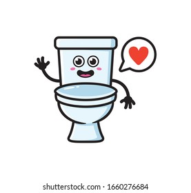 Toilet mascot character design vector