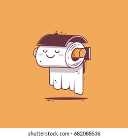 Toilet paper cartoon character vector illustration