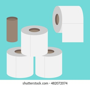 Toilet paper flat icon. Modern flat icon vector set