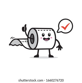 Toilet paper mascot character design