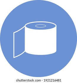 Toilet paper roll, illustration, vector on white background.
