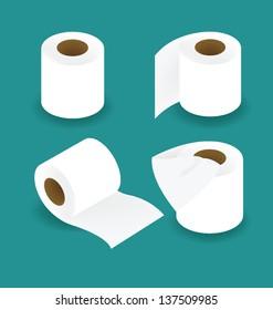Toilet paper set vector illustration