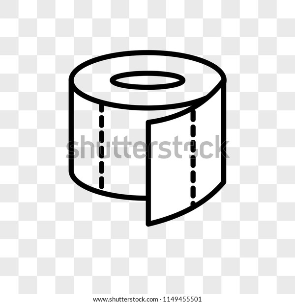 Toilet Paper Vector Icon On Transparent Royalty Free Stock Image