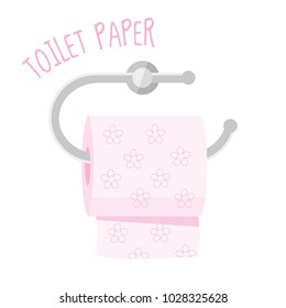 Toilet paper vector illustration isolated on white background