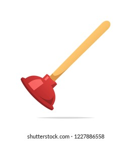 Toilet plunger vector isolated