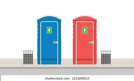 toilet public vector. free space for text. wallpaper.