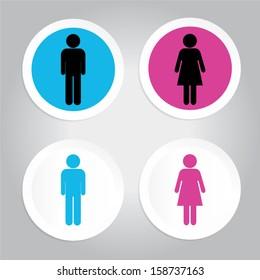 toilet or Restroom signs