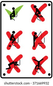 Toilet rules stickers set