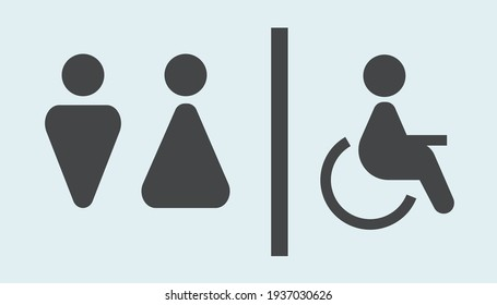 Toilet sign gray. Vector illustration