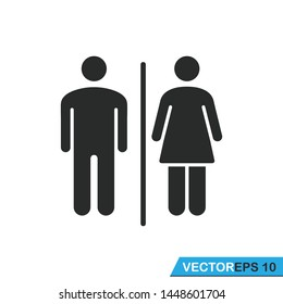 toilet  sign icon vector design illustration