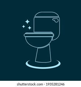 toilet sign for label and sticker, vector design