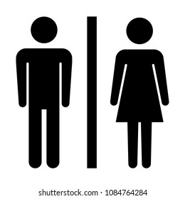 Toilet sign. male and female restroom. Vector