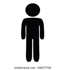 Toilet signs. Man symbol.