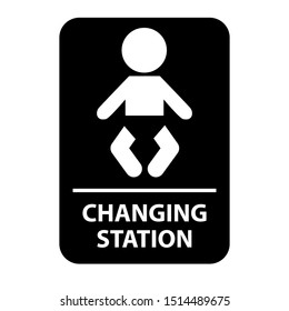 Toilet symbol. Baby changing station. Eps10 vector illustration