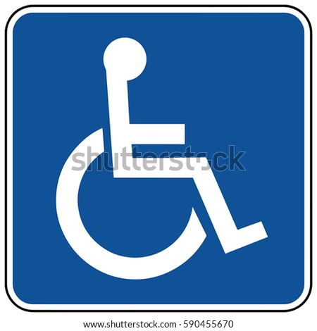 Toilet symbol in unicode. Disabled accessible facilities. Vector Format.