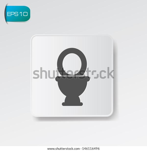 Toilet symbol,vector