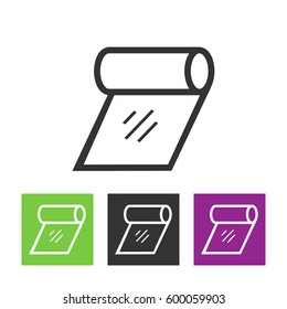 Toilet tissue paper roll line art icon for apps and websites
