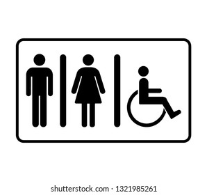 Toilet vector icon .WC sign.Restroom sign icon . Man, Woman icon flat . male and female toilet sign . wc door plate symbol illustration