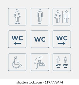Toilet /WC icons set