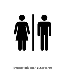 toilet - wc - restroom - gender sign vector
