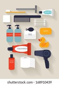 toiletries/ beauty vector/illustration