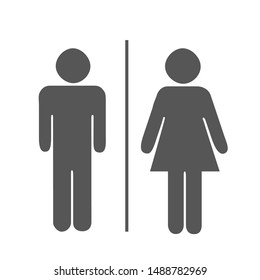 Toilets Icon Unisex. Vector man & woman icons. WC sign icon. Toilet symbol