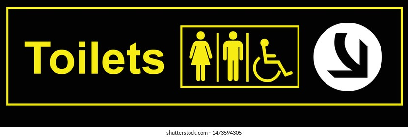 toilets sign for women men different able persons