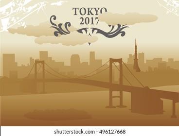 tokyo abstract skyline