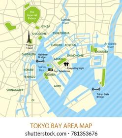 Tokyo bay area map (english)