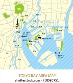 Tokyo bay area map (japanese)
