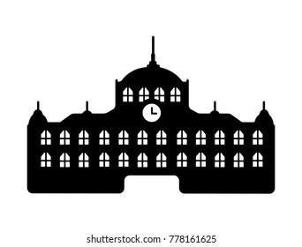 Tokyo landmark building / architecture illustration (Tokyo station)