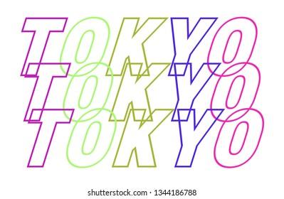 TOKYO SLOGAN, t-shirt vector design