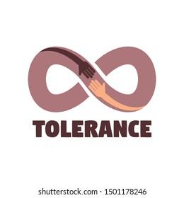 Tolerance logo. Flat illustration of tolerance vector logo for web design