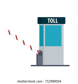 toll booth icon. Vector illustration isolated on white background