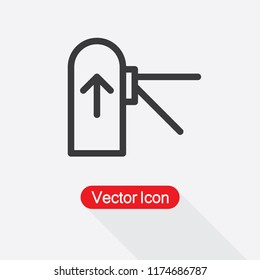 Toll Gate Icon, Tourniquet Icon Vector Illustration Eps10