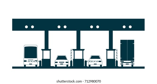 toll plaza icon. Vector illustration isolated on white background