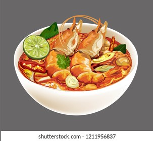 Tom Yum Kung spicy soup Thai food