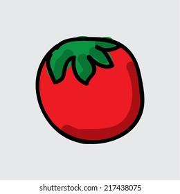 tomato graphic design. Vector illustration.