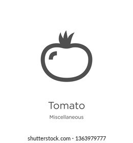 tomato icon. Element of miscellaneous collection for mobile concept and web apps icon. Outline, thin line tomato icon for website design and mobile, app development