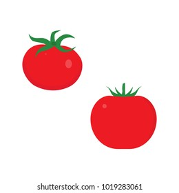 Tomato icon in flat style isolated vector illustration on white transparent background