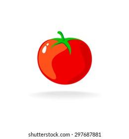 Tomato isolated single simple cartoon illustration